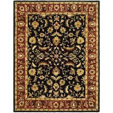 safavieh heritage black red 9 ft x 12 ft area rug
