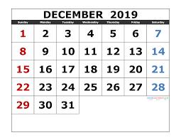 039 Excel Calendar Template Free Download December Sun Ver