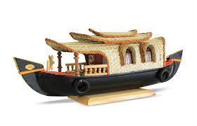 Small Picture Buy Kerala Houseboat Wooden Miniature Model Online