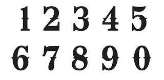 Number Stencil Font Number Font Barca Fontanacountryinn Com
