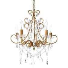 5 light crystal chandelier 5 light crystal chandelier chrome clear crystal versailles