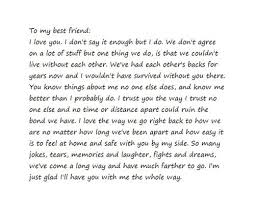 Quotes Letter Letter For Best Friend 30 Inspiring Best Friend Quotes Positive