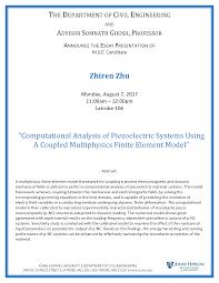 computational mechanics research laboratory zhiren zhu s zhiren zhu s master s essay presentation