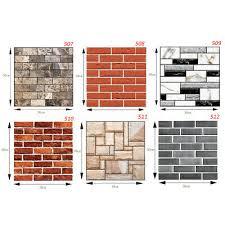 1/<b>10 PCS 3D</b> Tile Brick Wall Sticker PE <b>Foam</b> DIY Self-adhesive ...