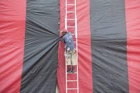 Tenting for termites is a big job