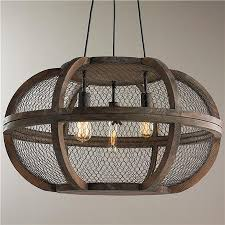 Attractive Chicken Wire Chandelier Rustic Wooden Cage Chandelier Industrial  Us And Farms