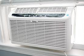 haier window air conditioner. haier serenity series esaq406t sitting in the window air conditioner