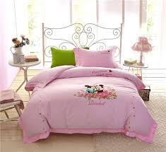 minnie mouse bed set mickey mouse bedding sets girls bedspreads bed covers sheets applique embroidery cotton minnie mouse bed set