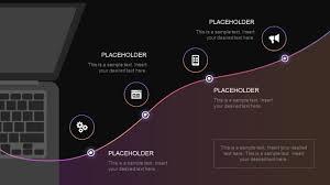 4 Step Technology Roadmap Powerpoint Template