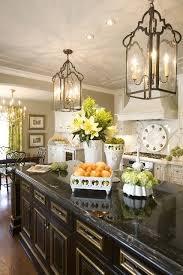 beautiful kitchen lighting. Beautiful Black Island And Lantern Light Fixtures. Kitchen Lighting