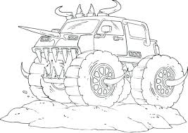Monster Truck Coloring Pages Free Printable Drawing With Kids Real