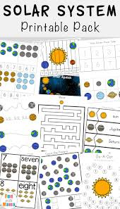Solar System Chart Worksheet Solar System Printable Worksheets And Activities Pack Fun