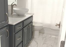 ceiling white spray scenic repaint nickel tiles countertops countertop color black grey fixtures chrome brushed sink
