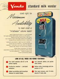 Large Ice Vending Machines Best VENDO Milk Vending Machines Vintageads