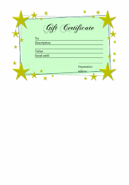 Gift Certificate Template Printable Homemade Gift Certificate Template Printable Gift Vouchers