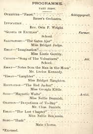 commencements at scranton high school pa 1889 program cover