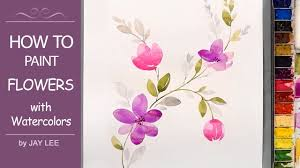 how to paint simple flowers in watercolor