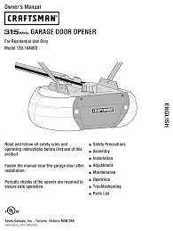 craftsman 139 18405d owner s manual pdf