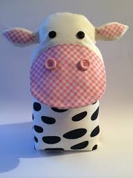 Handmade Cute Cow Door Stop. Taken From Facebook Page A Bundle Of Crafts.  Please