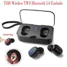 <b>T18S Mini</b> Invisible Earbuds <b>TWS Wireless</b> Bluetooth 5.0 Stereo ...