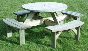 wooden garden furniture picnic tables and garden benches forest garden round picnic table round picnic table