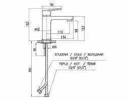 Купить <b>смеситель для раковины rav</b>-slezak colorado co128.5cmatc ...