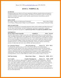 9 Production Planner Resume Self Introduce