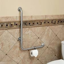 bathtub rails add safety to your bathroom without sacrificing style with the angled grab bar this bathtub rails