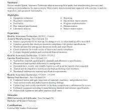 Quality Control Technician Job Description Quality Assurance Manager