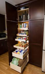 Diy Kitchen Pull Out Shelves Kitchen Pantry Roll Out Storage System Unstained Wooden Slide Out