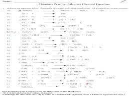 balancing chemical equations worksheet google search chemistry problems answers practice