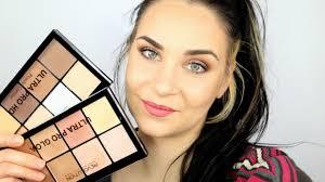 makeup revolution ultra pro hd powder contour light ultra pro glow test swatches