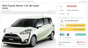 new car release 2016 malaysiaToyota Sienta to launch in Malaysia in August RM90k