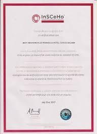 Insceho International Security Certification For Hospitality