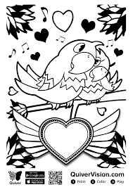 Print the pages, color and assemble into a book. The Library Voice Augmented Reality Quiver Coloring Sheets Are A Hit On Valentine S Day