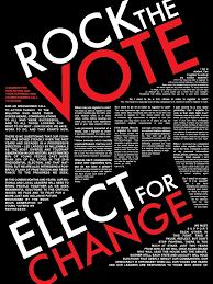 Rock The Vote Informational Poster On Fit Portfolios
