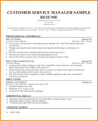 Customer Service Manager Resume Examples Banking Sample Bank