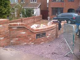 Small Picture Beautiful Front Garden Brick Wall Designs 17 Best Ideas About