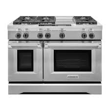 double oven gas range with griddle. Delighful Double KitchenAid 48 Intended Double Oven Gas Range With Griddle H