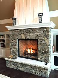 stone gas fireplace with stones interior fireplaces by twin city and company images