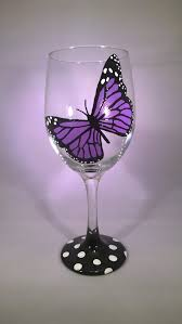 Wine Glass Decorating Designs Butterfly Wine Glasses Monarch Wine Glasses Hand Painted Designs 16