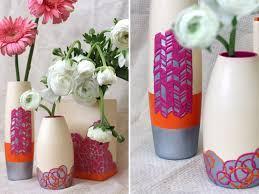DIY textured vases