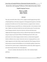 Pdf Effect Of Rosetta Stone On English Language Proficiency