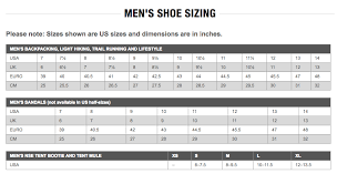 North Face Size Chart The North Face Mens Shoe Flight Rkt