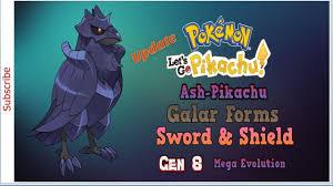 Updated]Pokemon Let's Go Pikachu! Play as Ash & Pikachu, Galar Forms, P...  | Pokemon, Pikachu, Mega evolution pokemon