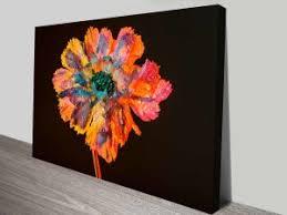 psychedelic floral dew custom canvas wall art on floral wall art australia with psychedelic floral dew custom canvas wall art elena kulikova