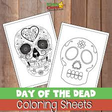 Day of the dead activity table ideas! Day Of The Dead Coloring Pages For Adults And Kids