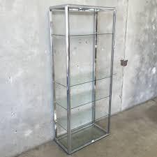 Glass Bookshelf Modern Chrome Glass Bookshelf Urbanamericana