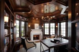 fascinating ceiling design take home decor to next level elaborate ceiling in wood gives this beautiful home office design ideas traditional