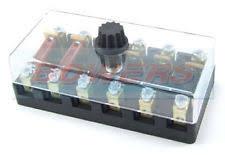 industrial fuse accessories 6v 12v 24v volt 6 way ceramic torpedo continental fuse box holder classic car